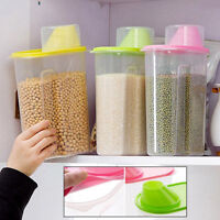 Plastic Kitchen Food Cereal Grain Bean Rice Storage Box Container Box Case UK