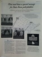 1949 State Farm insurance Companies special message for policyholders ad