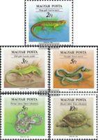Ungarn 4035A-4039A (kompl.Ausg.) postfrisch 1989 Reptilien