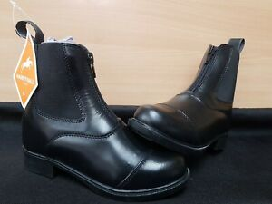 NEW ** HARRY HALL ** FOLKESTONE JUNIOR BLACK LEATHER CHILDS SIZE 10 RIDING BOOTS