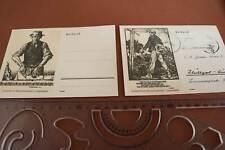 zwei alte Ganzsachen - Feldpostkarte Linolschnitt von Georg Sluyterman v. Langew