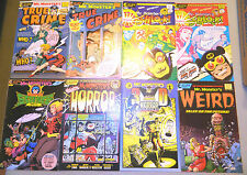 MR MONSTER SUPER DUPER SPECIALS 1 - 8 PRE-CODE HORROR COMICS TRUE CRIME 3D