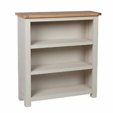 Grey Small Bookcase Oak Painted Solid Wood Cabinet Book Shelf Storage Harrow