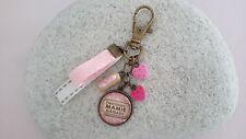 Bijou de sac, porte clés gourmandises rose Mamy Gâteaux