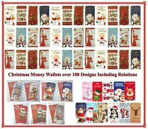 Christmas Money Wallet Relation Card Gift Voucher Traditional Buy 4 Get 1 FREE