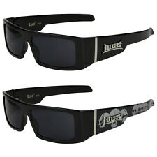 2er Pack Locs 9069 Choppers Bike Glasses Sunglasses Mens Womens Black