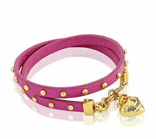 Juicy Couture Bracelet Leather Wrap Heart Charm NEW $78