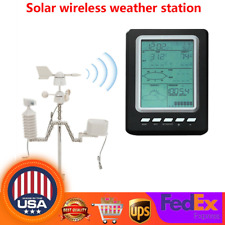 Solar Weather Station Thermometer Temperature Humidity Monitor 100 meter Receive
