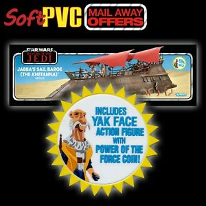 STAR WARS Jabba Sail Barge figure offer YakFace Included soft PVC patch/coaster
