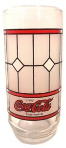 Coca-Cola Coke Stained Glass Tiffany Inspired Drinking Glass Tumbler Replacement