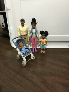 Fisher Price Loving Family Dollhouse African American Family Mom Dad Girl Baby
