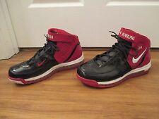 Used Worn Size 11.5 Nike Air Max 360 ID Kamau Shoes Metallic Black Red White