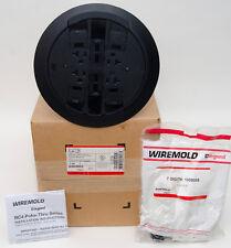 Wiremold RC4ATCBK Multi-Service Assembled Poke-Thru Device, Black