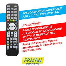 TELECOMANDO UNIVERSALE PER TV - DECODER - SAT - DVD - VCR GIA' PROGRAMMATO