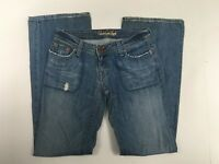 American Eagle Jeans Size 2 Boyfriend Distressed Low Rise Med Blue Denim Womens