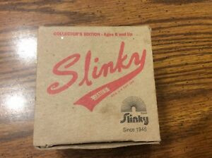 VINTAGE COLLECTOR'S EDITION SLINKY TOY MADE IN USA BY JAMES INSDUSTRIES w/BOX