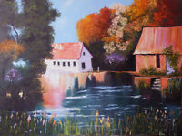 Original oil painting canvas landscape impressionist hand painted signed wallart