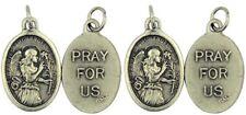 Saint Gabriel the Archangel Silver Tone Catholic Saint Medal, Lot of 4, 1 Inch