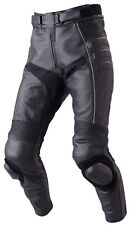 36 SIZE MENS PERFORATED LEATHER MOTORCYCLE PANT WITH KNEE PUCKS