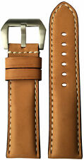 24x22 RIOS1931 for Panatime Natural Vintage Leather Watch Strap for Panerai