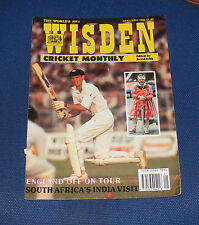 WISDEN CRICKET MONTHLY JANUARY 1992 - SOUTH AFRICA'S INDIA VISIT