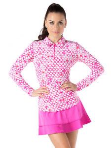 IBKUL Crystal Pleated Skort Hot Pink XS S M L XL Skirt Golf Tennis UPF 50