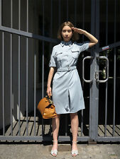 Uniform Kleid military 60er True VINTAGE 60s women GDR uniform dress light grey