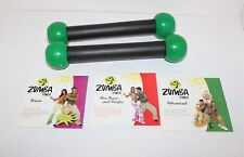 ZUMBA FITNESS KIT 3 WORKOUTS ON 3 DVDS PLUS 2 TONING STICKS BODY SHAPING