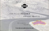 ALTIMA 1998 NISSAN OWNERS MANUAL HANDBOOK GUIDE BOOK SE XE GLE GXE 98