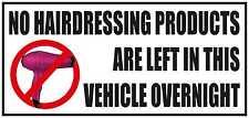 Nessun prodotti per parrucchiere sinistra in veicolo durante la notte divertente Auto / Van / Paraurti Adesivo