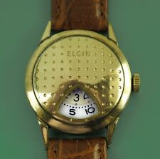 "Vintage 1950'S Elgin Jump Hour Direct ReadIng Golf Ball Men""s Watch"