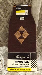 COOL Vtg 50s Cooper's Nylon/Cotton Stretch Socks  NOS Atomic Rockabilly USA made