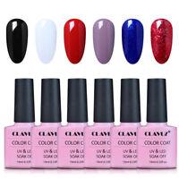 CLAVUZ Soak Off Gel Polish Nail Art UV LED Sealer Base Coat Manicure Vanrish UK