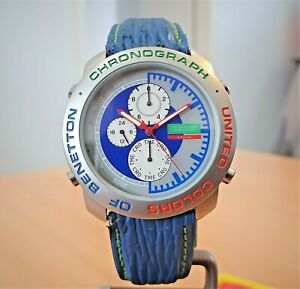 Vintage United Colours of Benetton by Bulova Chrono watch - repair or spares