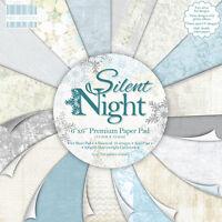 PRIMERA EDICIÓN SILENT NIGHT PAQUETES MUESTRA 16 X 6 6 PAPELES PARA MANUALIDADES