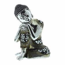 Finition argent thai sitting bouddha 17cm 69033