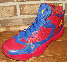 MENS NIKE AIR JORDAN 2012 LITE IN COLORS GAME ROYAL / MAIZE / GYM RED SIZE 10.5