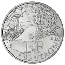 10 euros des régions personnages en argent Bretagne 2012