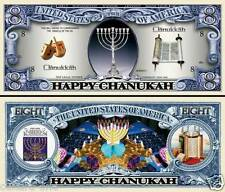 JOYEUX HANOUKA ! BILLET 8 DOLLARS ! HANOUCCA Religion Juive Judaïsme Juif Cadeau