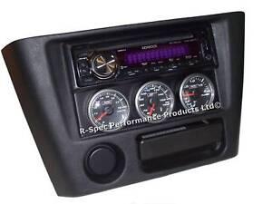 Triple 45mm Gauge Pod DIN Set - Mitsubishi Lancer Evo 4 5 6 Boost Oil Temp Volt