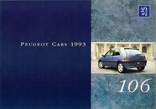 Peugeot 106 1993 UK Market Sales Brochure XSi XT XR Graduate XN