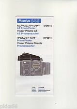 MAMIYA 645 PRO TL AE PRISM FINDER INSTRUCTION (ORIGINAL PRINT JAPAN/not copies)