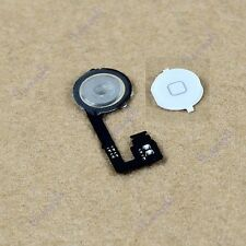 Hot White Back Home Menu Button Key With Repair Part Flex Cable For iphone 4S