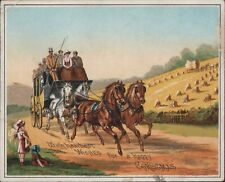 Attractive Tuck Christmas Card 1882   Coach & Horses,  Hay-gathering      D4/661