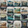 """18"""" Vintage mountains Cotton Linen Sofa  Cushion Cover Home Decor Pillow Case"""