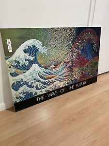 The Wave Of The Future Vintage Computer Ad Poster 1982 Gourmet Grafiks Inc RARE