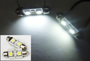 2x Canbus 2 SMD LED 6413 6418 For CHEVROLET Interior Dome Light Festoon White