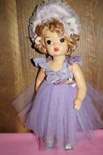 "Vintage 16"" Terri Lee Rare Lavender Ballerina Costume with Pansy-Trimmed Bonnet"