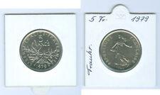 France 5 Francs 1979 Pièce de monnaie de KMS Seulement 50.511 pièce