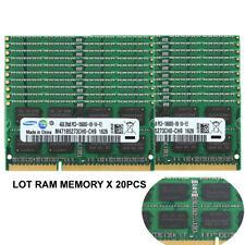 Samsung 20x 4GB 2RX8 DDR3 1333MHz PC3-10600S CL9 Sodimm Notebook Memória Ram Lote 4G